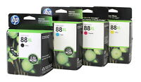 HP 88XL Black & Colors Ink Cartridge Combo C9391AN-92AN-93AN-96AN Genuine New