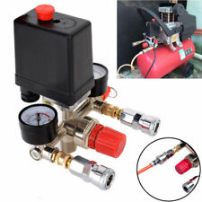 Relief Air Compressor Pressure Control Switch Valve Manifold Regulator Gauges