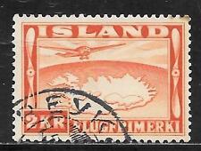 ICELAND 1934 MAP OF ISLAND SC # C20 USED