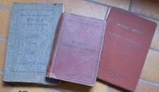 3 anciens livres pour l'apprentissage de l'allemand