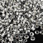 cuentas de rocalla de vidrio 2mm Agujero Plateado Cristal 20g (12/0)