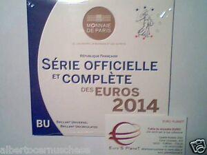 2014 8 monete 3,88 euro fdc FRANCIA BU France KMS Frankreich França ufficiale