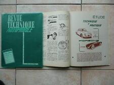 Porsche 356,RTA,revue technique automobile,aout 1956, rare Très bon état
