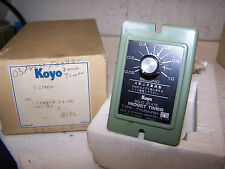 NEW KOYO 0 - 1 SECOND ONE SHOT TIMER TYPE TTMM-FS1-G  100 VAC