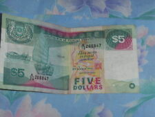 Old 5 dollar Singapore note - Ship series for sale