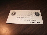 1907 GREAT NORTHERN RAILROAD LITCHFIELD, MN LAND DEED POSTCARD
