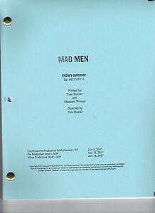 "MAD MEN show script...""Indian Summer"""