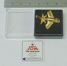 Goldflieger Nr.02 Pin / Anstecker Paläo SETI / Prä-Astronautik (Gold)  *NEU*