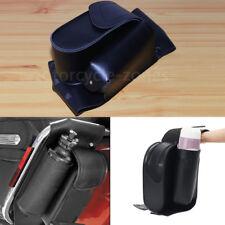 Left Side Saddlebag Guard Bag Water Bottle Holder For Harley FLHT FLTR FLHR CVO