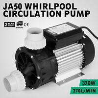 New 370W 110V 1/2HP BathTub 270L/min Water Pump Bath Tub SPA Pump Whirlpool
