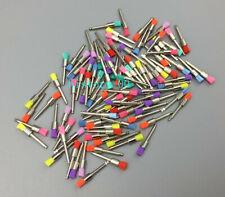 100pcs Nylon Polishing Brushes Dental Latch Flat Polisher Brush Colorful Small