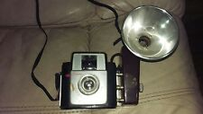 VINTAGE KODAK BROWNIE STARLET CAMERA W/ ORIGINAL FLASH MISSING INSIDES