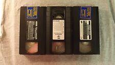 vintage set of three vhs halloween horror movies