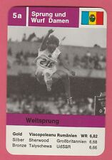 German Trade Card 1968 Olympics Long Jump Gold Medal Winner Viorica Viscopoleanu