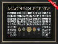 COLLINGWOOD MAGPIES 125TH ANNIVERSARY FRAMED MAGPIE LEGENDS PRINT RICHARDS SWAN