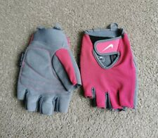 Nike pink grey training gloves sz Medium