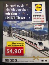 Deutsche Bahn 1 x Freifahrt Flex Ticket Fahrt Lidl DB flexibel bundesweit