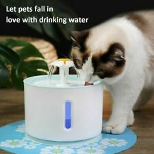 2.6L LED Automatic Cat Fountain Water Dispenser Pet Mute Drinking Dish Filters