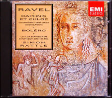 Sir Simon Rattle: Ravel Daphnis et Chloe ga Bolero EMI CD City of Birmingham così