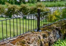 More details for scroll top black wrought iron railings garden wall topper 181cm (w) x 48.5cm (h)