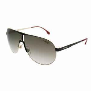 Carrera 1005/S 2M2 Black Gold Metal Aviator Sunglasses Brown Gradient Lens