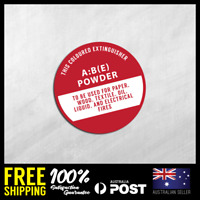 FIRE EXTINGUISHER STICKERS - A : B (E) - Safety Stickers 150x150mm #FE001
