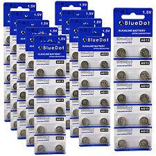 Lot of 100 ~ New BlueDot Alkaline Coin Battery ~ AG13 / A76 / LR1154 / SR44