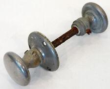2 ANTIQUE Vintage 1800's VICTORIAN Chrome NICKEL SILVER Small INTERIOR DOOR KNOB