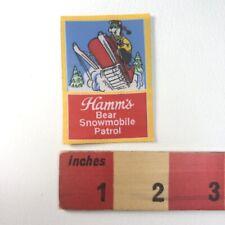 Hamm's Beer Hamm'S Bear Snowmobile Patrol Patch 00Sl