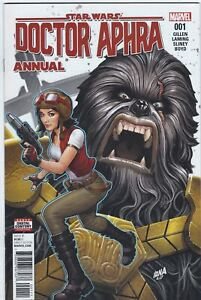 Marvel 2017 STAR WARS: DOCTOR APHRA ANNUAL #1 Very Fine Disney+ Comics Bag/Board