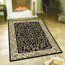 240x330cm Extra Large Floor Rug Traditional Persian Carpet Black FREE DELIVERY*