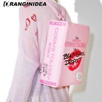 Women Backpack Funny Book Shape Bag for Teenager Girls Pink Fashion Shoulder Bag