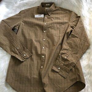 NWT J. Crew Secret Wash Shirt Large Tall Long Sleeve Brown