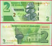 ZIMBABWE 2 DOLLARS 2016 P99 BOND NOTE BANKNOTE UNC