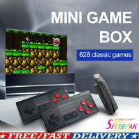 Retro Mini HDMI 4K TV Game Stick Console 628 Built-in Games 2×Wireless Gamepad