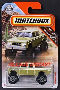 2019 Matchbox #63 '68 Dodge D-200 MATTE CREAM / MOC