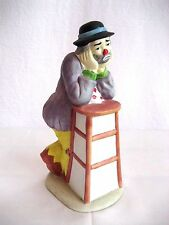 Vintage Emmet Kelly Jr. Porcelain Clown Leaning on Stool Flambro