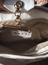 Authentic Marni Italy Purse Gold Hardware White Handbag