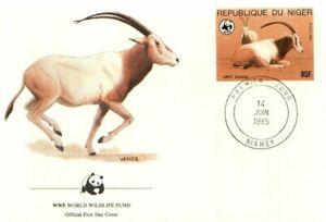 (70253) FDC WWF Niger Antelope 1985