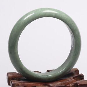 55mm 100% Natural Green Jade Bangle Bracelet Chinese Guizhou Jade K5062
