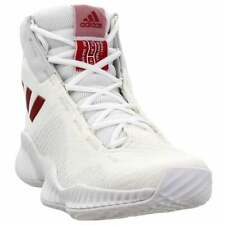 adidas SM Pro Bounce 2018 Team Whi  Casual Basketball  Shoes White Mens - Size