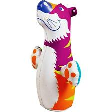 3D Bop Bag Pink Tiger - Inflatable Blow Up Punching Bag Toy Gift For Kids Fun