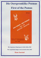 Argentina rugby tour of South Africa 1965 First of the Pumas Hans Saestad BOOK