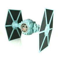 """Star Wars Imperial Blue Tie Fighter Ship Tonka 1995 Complete Holds 3.5"""" Figures"""