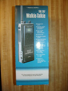 New Realistic TRC-207 Walkie Talkie 40 Channel 5 Watt CB Radio Band Transceiver