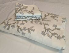 POTTERY BARN 4 PIECE QUEEN DUVET SET IVORY, FRENCH BLUE, SOFT GREEN FLORAL