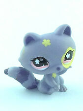 Littlest Pet Shop #597 Lavender Racoon Pink Flower Eyes Yellow Flowers 2006 LPS