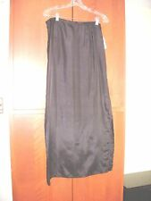 Holiday Ready Les Copains nwt classic SILK LONG BLACK  SKIRT SIZE 44 USA 8