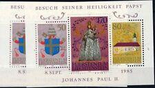 Liechtenstein 1985 pope John Paul II 2 sheetlets MNH**