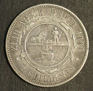 South Africa Florin 1896 VF Trench Art